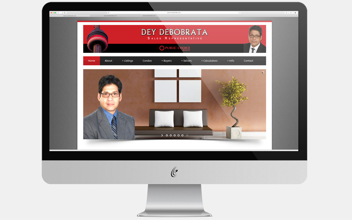 A web design project of MaxBiz Web Solutions